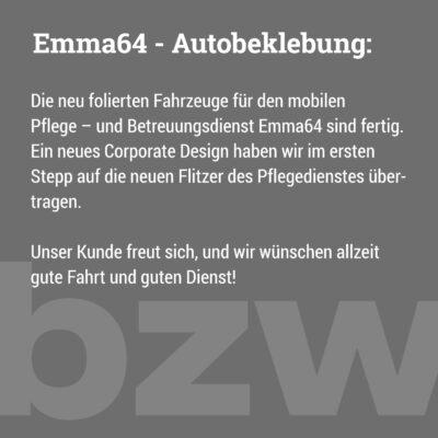 Emma64: Autobeklebung